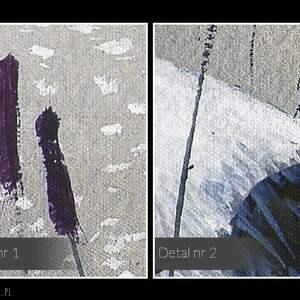hand made obrazy woda obraz na płótnie - żurawie nad wodą