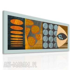 brązowe obrazy wydruk obraz na płotnie - 150x60cm