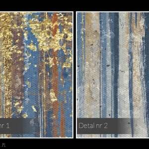 VAKU DSGN obraz na płótnie - wzór niebieski złoty - 120x80 cm (90401) wystawny