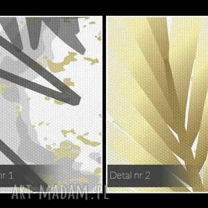 wystawny obraz na płótnie - liście złoty