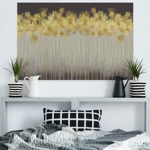 abstrakcja obrazy złote obraz na płótnie - złoty