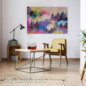 góry obrazy obraz na płótnie - kolorowy las