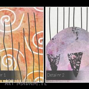 niepowtarzalne obrazy abstrakcja obraz na płótnie - pejzaż kolorowy