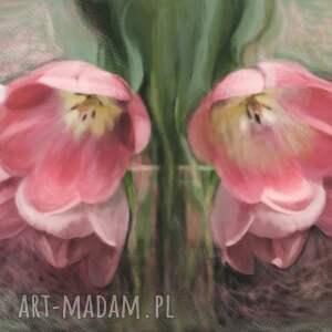 intrygujące obrazy kwiaty obraz na płótnie 100 x