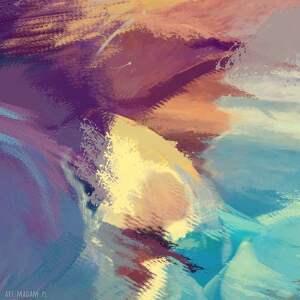 abstrakcje granatowe obraz na płótnie zachód słońca