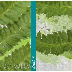 obrazy zielony obraz na płótnie - 70x100cm paproć