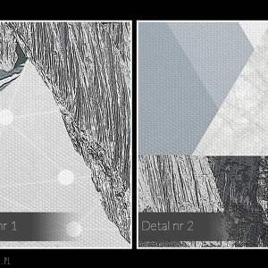 zima obraz na płótnie - góry