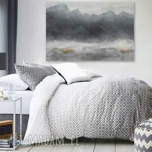 białe zima obraz na płótnie - góry abstrakcja