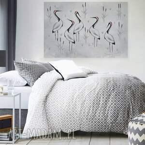 obraz na płótnie - żurawie sejmik szare - 120x80 cm (85201)