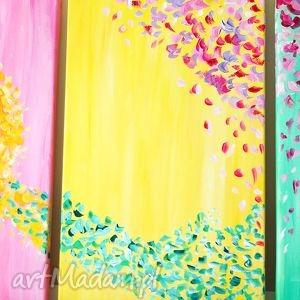 żółte akryl obraz - nadzieja