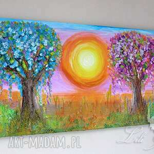 drzewo obraz - narodziny - akryl
