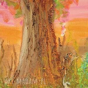 obraz kolorowe - narodziny - akryl