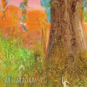 eleganckie drzewo obraz - narodziny - akryl