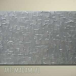 niesztampowe obraz nowoczesny srebrny
