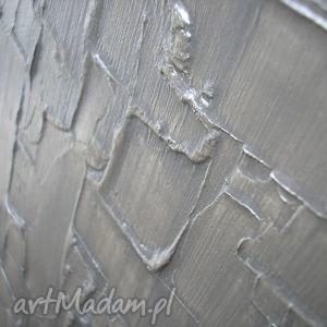 niesztampowe 3d obraz nowoczesny srebrny