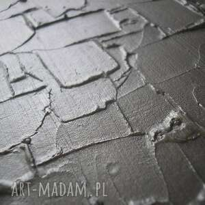 3d obraz nowoczesny srebrny