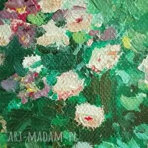 malowany ręcznie obraz olejny na płótnie pnące