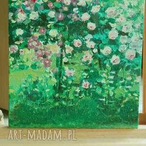 obrazy kwiaty zielone obraz olejny na płótnie pnące
