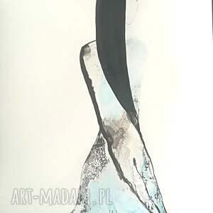 obrazy abstrakcja-niebieski obraz ręcznie malowany abstrakcja