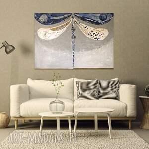 Creo Obraz ręcznie malowany na płótnie - Ważka - akrylowy