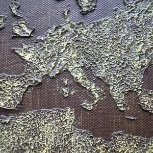 gustowne obrazy brąz obraz ręcznie malowany mapa świata