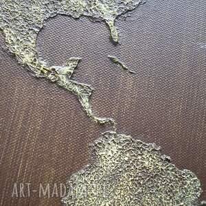mapa obrazy żółte obraz ręcznie malowany świata