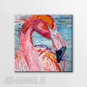 collage obraz ręcznie malowany akryl