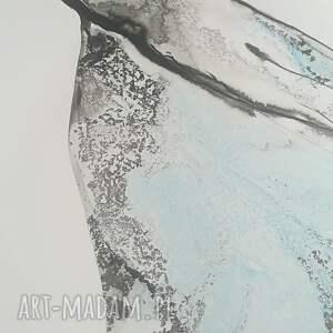 abstrakcja-niebieski obrazy czarne obraz ręcznie malowany abstrakcja