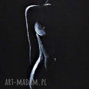 obrazy ręcznie malow subtelny i zmysłowy akt kobiecy, rysunek