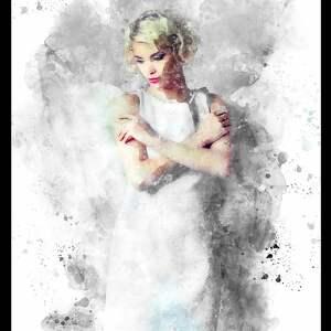 obraz do salonu białe sprzedawany wraz z ramą! projekt