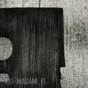 szare grafiki do salonu obraz 70 x 100 cm malowany recznie