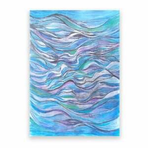 niebieskie morski oprawiony obraz z morzem