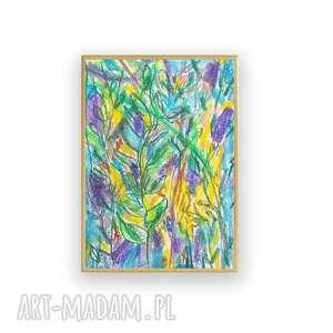 modne abstrakcja oprawiony rysunek z dżunglą, ładny