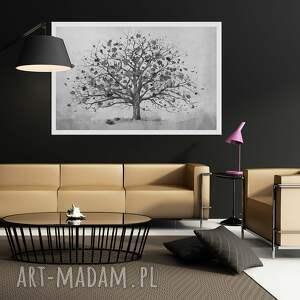 szare obraz owoczesny do salonu drukowany