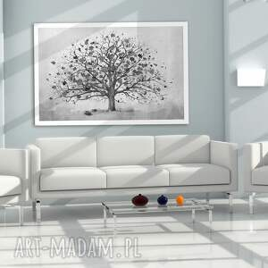 gustowne drzewo owoczesny obraz do salonu drukowany