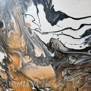obraz do salonu białe piasek pustyni - abstrakcja