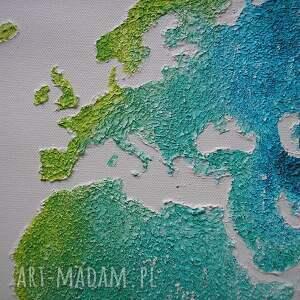 obrazy kolorowa obraz mapa świata 3d - 15