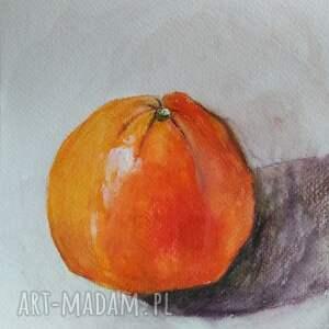 niesztampowe akwarela pomarańcza formatu 18/24