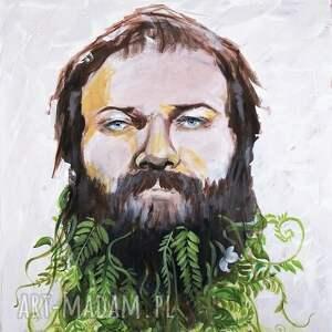 handmade obrazy portret obraz na w 100% bawełnianym
