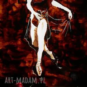 handmade obrazy balet potworna baletnica - obraz kawą