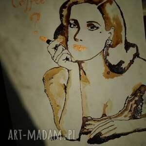 ręcznie wykonane obrazy kawa propozycja - obraz kawą malowany
