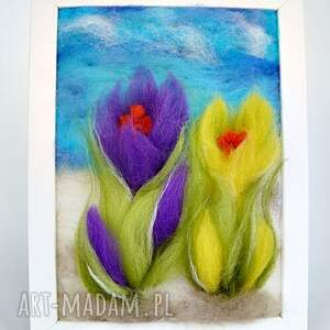 fioletowe obrazy kwiaty przedwiośnie. Obraz z kolekcji die