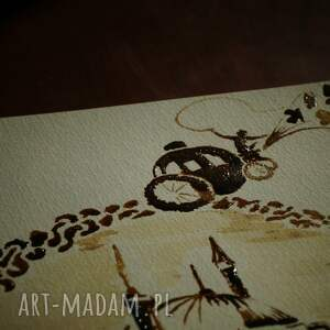 gustowne obrazy kopciuszek przynęta - obraz kawą i piórem