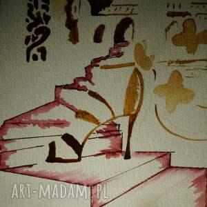 brązowe obrazy kopciuszek przynęta - obraz kawą i piórem