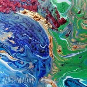 turkusowe design rafa - abstrakcyjny obraz ręcznie