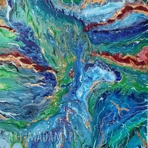 do salonu rafa - abstrakcyjny obraz ręcznie
