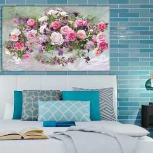 obrazy glamour różowe róże obraz na płótnie, 100 x