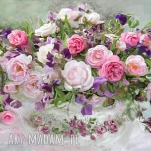 obrazy kwiaty róże obraz na płótnie, 100 x