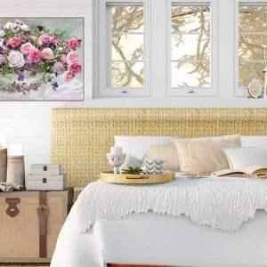 szare kwiaty obrazy obraz do salonu, 100 x 60, róże