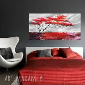 Samotne drzewo, nowoczesny obraz ręcznie malowany